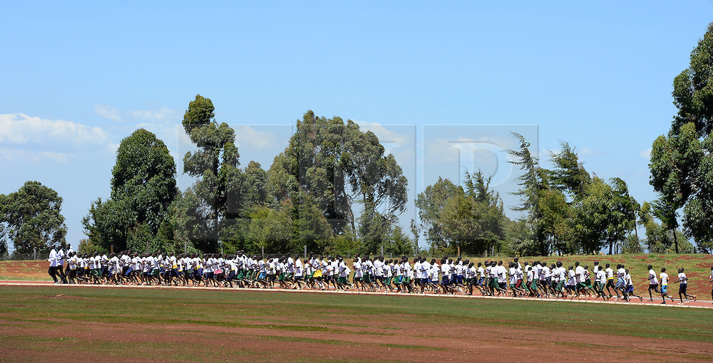 © Licensed to London News Pictures. 02/02/2014. Iten, Kenya. Running in Africa feature. The opening of the 1st ever tartan running track in Iten. Photo credit : Mike King/LNP