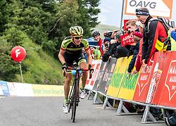 12.07.2019, Kitzbühel, AUT, Ö-Tour, Österreich Radrundfahrt, 6. Etappe, von Kitzbühel nach Kitzbüheler Horn (116,7 km), im Bild Patrick Schelling (Team Vorarlberg Santic) // Patrick Schelling of Switzerland (Team Vorarlberg Santic) during 6th stage from Kitzbühel to Kitzbüheler Horn (116,7 km) of the 2019 Tour of Austria. Kitzbühel, Austria on 2019/07/12. EXPA Pictures © 2019, PhotoCredit: EXPA/ Reinhard Eisenbauer