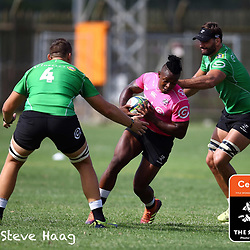 S'busiso Nkosi of the Cell C Sharks during The Cell C Sharks training session at Jonsson Kings Park Stadium in Durban, South Africa. 6th February 2019 (Photo by Steve Haag)