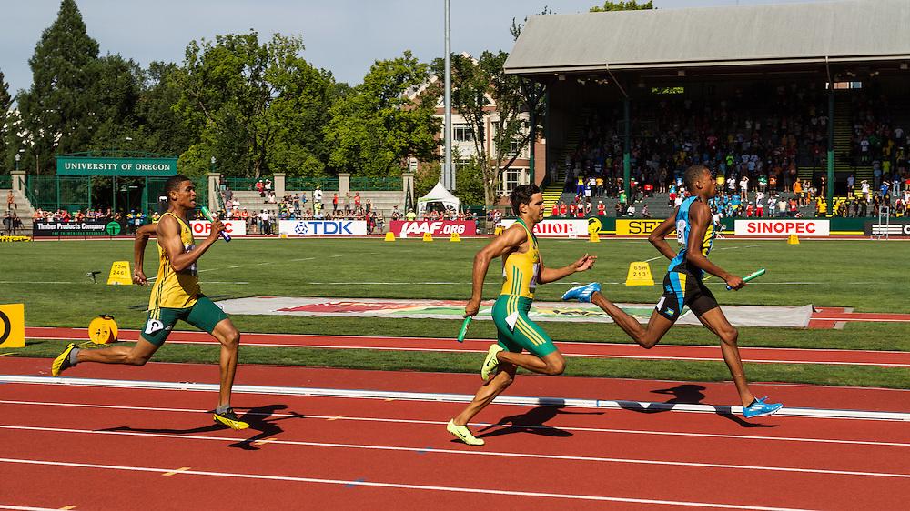 mens 4x400 relay, Bahama, Australia