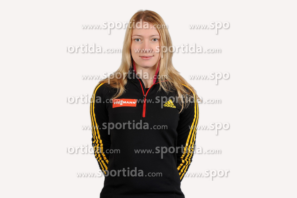 03.01.2014, Kunsteisbahn, Koenigssee, GER, BSD, Rennrodler Team Deutschland, Portrait, im Bild Aileen Frisch, Altenberg // during Luge athletes of team Germany, Portrait Shooting at the Kunsteisbahn in Koenigssee, Germany on 2014/01/04. EXPA Pictures © 2014, PhotoCredit: EXPA/ Eibner-Pressefoto/ Stuetzle<br /> <br /> *****ATTENTION - OUT of GER*****
