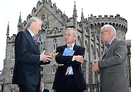 20/5/13 *NO REPRO FEE*Vice President Intel Labs Europe Prof Martin Curley with Minister Richard Bruton and Peter Finnegan Director International Relations at Dublin City Council pictured at the Open Innovation 2.0 Conference on Sustainable Economy and Society at Dublin Castle today were Pic:Marc O'Sullivan