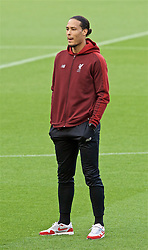 BARCELONA, SPAIN - Tuesday, April 30, 2019: Liverpool's Virgil van Dijk during a walk around the pitch ahead of the UEFA Champions League Semi-Final 1st Leg match between FC Barcelona and Liverpool FC at the Camp Nou. (Pic by David Rawcliffe/Propaganda)