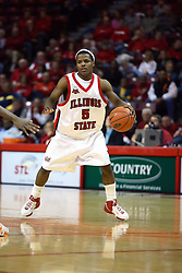 "30 January 2007: Keith ""Boo"" Richardson. The Purple Aces of Evansville folded the final 2 minutes of play and handed the game to Illinois State University Redbirds by a score of 65-61at Redbird Arena in Normal Illinois."