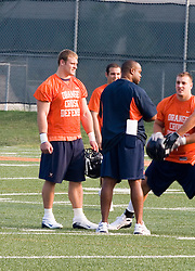Chris Long (91)..The 2007 Virginia Cavaliers football team opened fall practice on August 6, 2007 at the University of Virginia football practice fields near the McCue Center in Charlottesville, VA.