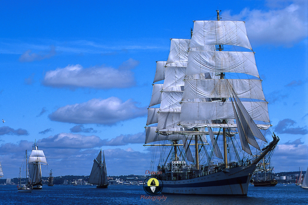 Parade of Sail at Halifax Tall Ships 2000. .Photo by Roger S. Duncan.  ...