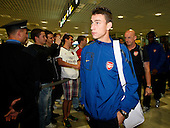 Arsenal arrive in Belgrade