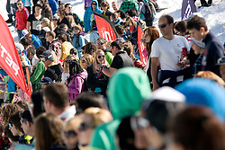 Spectators during Luza Petrol 007 on ski resort RTC Krvavec, 31.3.2012, Cerklje na Gorenjskem, ski resort RTC Krvavec, Slovenia