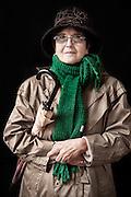 Javier Calvelo/ URUGUAY/ MONTEVIDEO/ FOTOGRAFIA/ Expoprado - Exposicion Rural del Prado de Montevideo/ Proyecto documental sobre la identidad, lo nacional, lo Uruguayo. Se trata de retratos simples mirando a camara y con un fondo neutro. Les pregunto a los fotografiados como quieren ser recordados en el futuro y de que localidad del Uruguay son.<br /> El titulo esta basado en la obra de Raymond Firth, Tipos Humanos. (Raymond William Firth, ( 1901-2002) fue un etn&oacute;logo neozeland&eacute;s profesor de Antropolog&iacute;a en la London School of Economics, es uno de los fundadores de la antropolog&iacute;a econ&oacute;mica brit&aacute;nica). <br /> En la foto:  Tipos Humanos en Expoprado, Estela Raymondo, Pando. Foto: Javier Calvelo <br />  raystela@gmail.com<br /> 2013-09-13 dia viernes