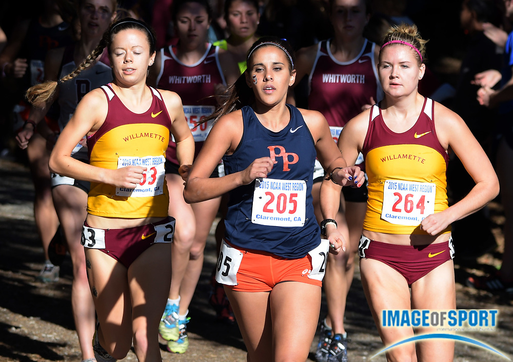 Nov 14, 2015; Claremont, CA, USA; Maya Weigel of Pomona-Pitzer wins the womens race in 21:24 during the 2015 NCAA Division III West Regionals cross country championships at Pomona-Pitzer College.