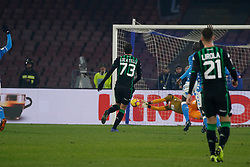 January 13, 2019 - Naples, Campania, Italy - Naples - Italy, 29 jannuary 2019 stadium San Paolo Napoli faces US Sassuolo for the Serie A championship.in the picture: the Napoli player  (Credit Image: © Fabio Sasso/Pacific Press via ZUMA Wire)