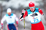 Mark Arendz of Canada competes in the Men's 15 km Standing Biathlon at Alpensia Biathlon Centre on Day 7 of the PyeongChang 2018 Paralympic Games on March 15, 2018 in Pyeongchang-gun, South Korea.