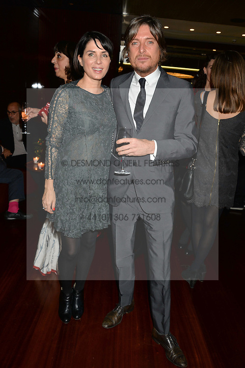 SADIE FROST and DARREN STROWGER at a dinner hosted by Liberatum to honour Francis Ford Coppola held at the Bulgari Hotel & Residences, 171 Knightsbridge, London on 17th November 2014.