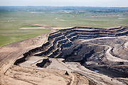 Coal strip mining in the Powder River Basin.
