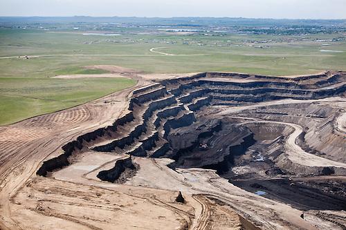 Coal mining strip