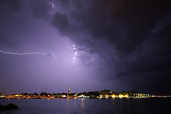 11.09.2013, Hafen, Zadar, CRO, Gewitter im Hafen von Zadar // during a thunderstorm in the Port of Zadar, Croatia on 2013/09/11. EXPA Pictures © 2013, PhotoCredit: EXPA/ Pixsell/ Filip Brala<br /> <br /> ***** ATTENTION - for AUT, SLO, SUI, ITA, FRA only *****