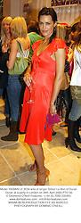 Model YASMIN LE BON wife of singer Simon Le Bon of Duran Duran at a party in London on 28th April 2004.PTO 56