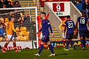 Ben Garuccio of Hearts takes the long walk after seeing the red card following his challenge during the Ladbrokes Scottish Premiership match between Motherwell and Heart of Midlothian at Fir Park, Motherwell, Scotland on 17 February 2019.