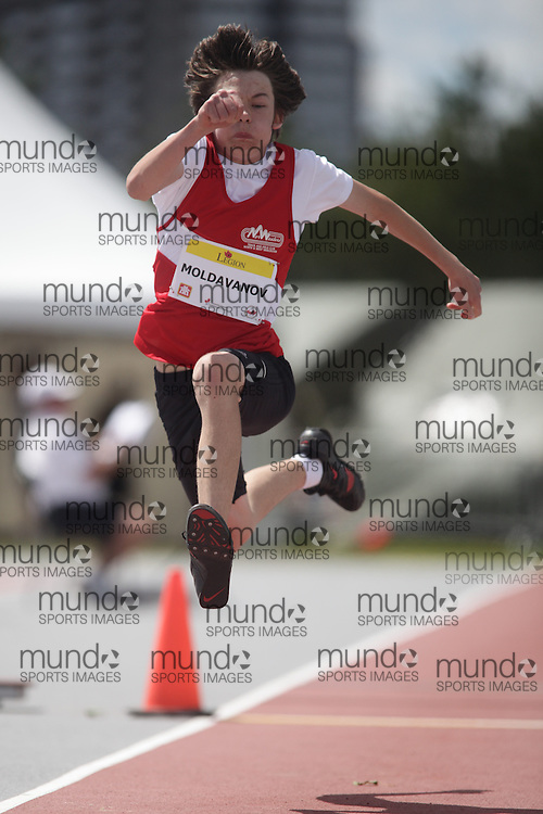 Ottawa, Ontario ---10-08-06--- Moldavanov competes in the triple jump at the 2010 Royal Canadian Legion Youth Track and Field Championships in Ottawa, Ontario August 6, 2010..JULIE ROBINS/Mundo Sport Images.