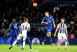 Andy King of Leicester City heads the ball - Mandatory by-line: Robbie Stephenson/JMP - 06/11/2016 - FOOTBALL - King Power Stadium - Leicester, England - Leicester City v West Bromwich Albion - Premier League