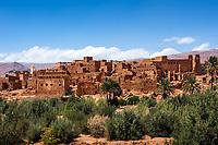 TINGHIR, MOROCCO - CIRCA APRIL 2017: Kasbah in Tinghir, Morocco.