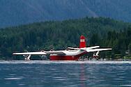 The Martin Mars (Hawaii Mars) water bomber floating on Sproat Lake in Port Alberni, British Columbia, Canada