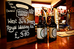 UK ENGLAND BERKSHIRE STANFORD DINGLEY 22MAR11 - Royal Wedding Ale on sale and display at the Old Boot Inn pub, owned and run by John Hayley...jre/Photo by Jiri Rezac..© Jiri Rezac 2011
