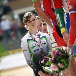 Laura van der Kamp werd derde op de 500 meter
