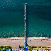 Commercial pier drone view Drone photography
