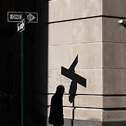 Street sign shadows