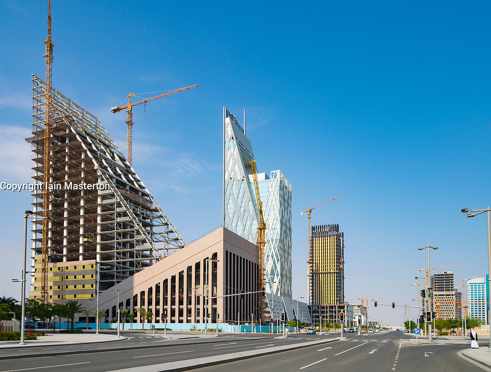 Lusail City new town under construction in Qatar, Middle East