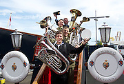 The Australian Defence ForcePlay ahead of the Edinburgh Royal Military Tattoo on the Royal Yacht Britannia...02-08-12.        .The Band of the Australian defence force today played a short set onboard the Royal Yacht Britannia ahead of tonights opening performance at the Royal Edinburgh Military Tattoo 2012....At The Royal Yacht Britannia, Edinburgh...Picture Mark Davison/ ProLens PhotoAgency/ PLPA.Thursday  2nd August 2012.