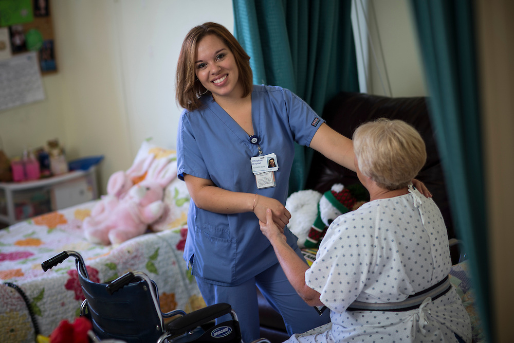 Savannah Technical College Health Care student Alemeris Dunn works at the Effingham Health System nursing home facility, Tuesday July 29, 2014 in Rincon, Ga. (STC Photo/Stephen B. Morton)