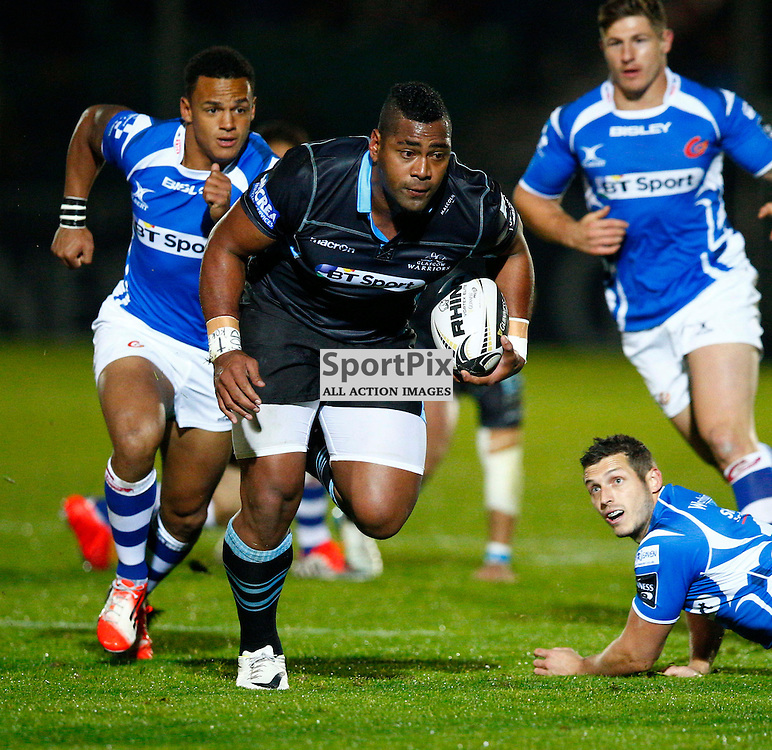 GUINESS PRO 12 - Glasgow Warriors v Dragons....Taqele Naiyaravoro in action...(c) STEPHEN LAWSON | SportPix.org.uk