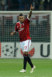 23.11.2011, Giuseppe Meazza Stadion, Mailand, ITA, UEFA CL, Gruppe H, AC Mailand (ITA) vs FC Barcelona (ESP), im Bild Esultanza dopo il gol di Kevin Prince BOATENG (Milan) goal celebration // during the football match of UEFA Champions league, group H, between Gruppe H, AC Mailand (ITA) and FC Barcelona (ESP) at Giuseppe Meazza Stadium, Milan, Italy on 2011/11/23. EXPA Pictures © 2011, PhotoCredit: EXPA/ Insidefoto/ Alessandro Sabattini..***** ATTENTION - for AUT, SLO, CRO, SRB, SUI and SWE only *****
