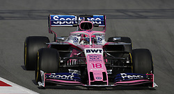 Racing Point's Lance Stroll during day two of pre-season testing at the Circuit de Barcelona-Catalunya.
