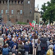 Manifestazione sostegno Mattarella