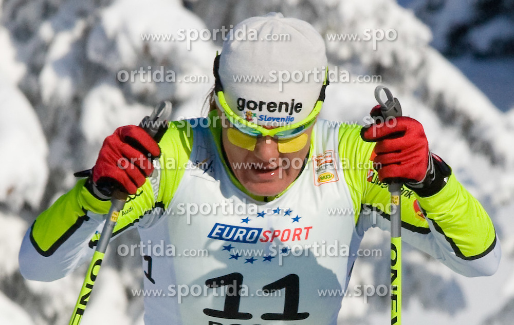 Petra Majdic (SLO) at Ladies 15 km Classic Mass Start Competition of Viessmann Cross Country FIS World Cup Rogla 2009, on December 20, 2009, in Rogla, Slovenia. (Photo by Vid Ponikvar / Sportida)