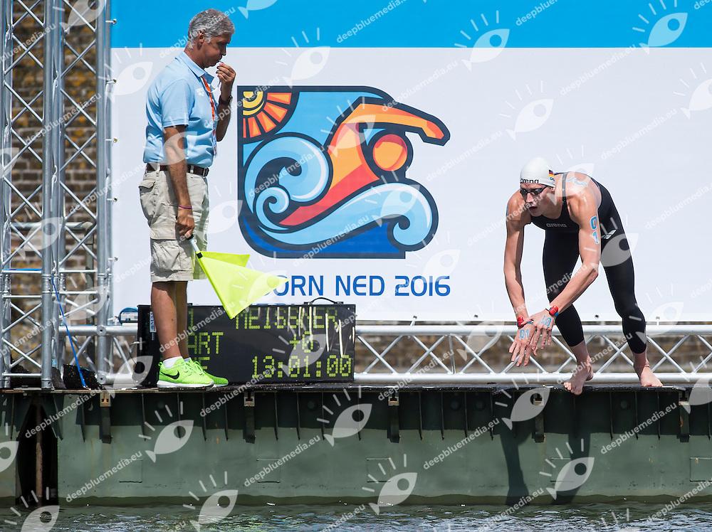 MEISSNER Soeren GER<br /> Hoorn, Netherlands <br /> LEN 2016 European Open Water Swimming Championships <br /> Open Water Swimming<br /> Men's 5km<br /> Day 02 12-07-2016<br /> Photo Giorgio Perottino/Deepbluemedia/Insidefoto