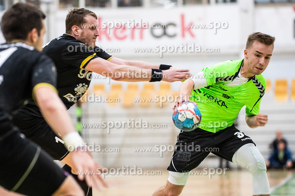 Kukman Tilen of MRK Krka during handball match between RK Gorenje Velenje and MRK Krka in Final of Slovenian Men Handball Cup 2018/19, on Maj 12, 2019 in Novo Mesto, Slovenia. Photo by Grega Valancic / Sportida