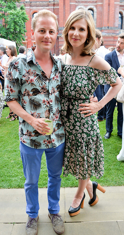Guy & Lizzie Pelly at the V&A Summer Party 2017 held at the Victoria & Albert Museum, London England. 21 June 2017.