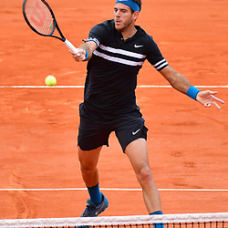 Juan Martin Del Potro of Argentina  during Day 9 of the French Open 2018 on June 3, 2018 in Paris, France. (Photo by Dave Winter/Icon Sport)