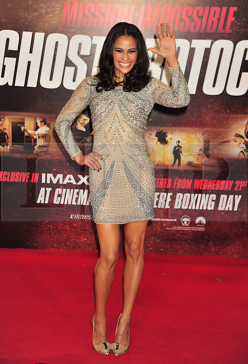 © Licensed to London News Pictures. 13/12/2011. London, England.Paula Patton attends the UK premiere of Mission Impossible - Ghost Protocol at the IMAX in London .  Photo credit : ALAN ROXBOROUGH/LNP