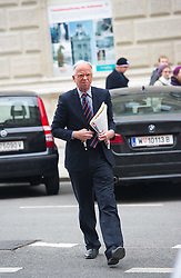 13.01.2015, ÖVP Bundespartei, Wien, AUT, ÖVP, Vorstandssitzung der Bundespartei anlässlich der Steuerreform. im Bild Werner Fasslabend // before board meeting  of the austrian people's party according to tax reformation at federal party headquarter in Vienna, Austria on 2015/04/13. EXPA Pictures © 2015, PhotoCredit: EXPA/ Michael Gruber