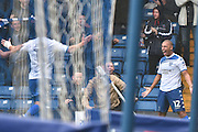 Bury Forward, James Vaughan (12) scores 1-0 during the EFL Sky Bet League 1 match between Bury and Port Vale at the JD Stadium, Bury, England on 3 September 2016. Photo by Mark Pollitt.