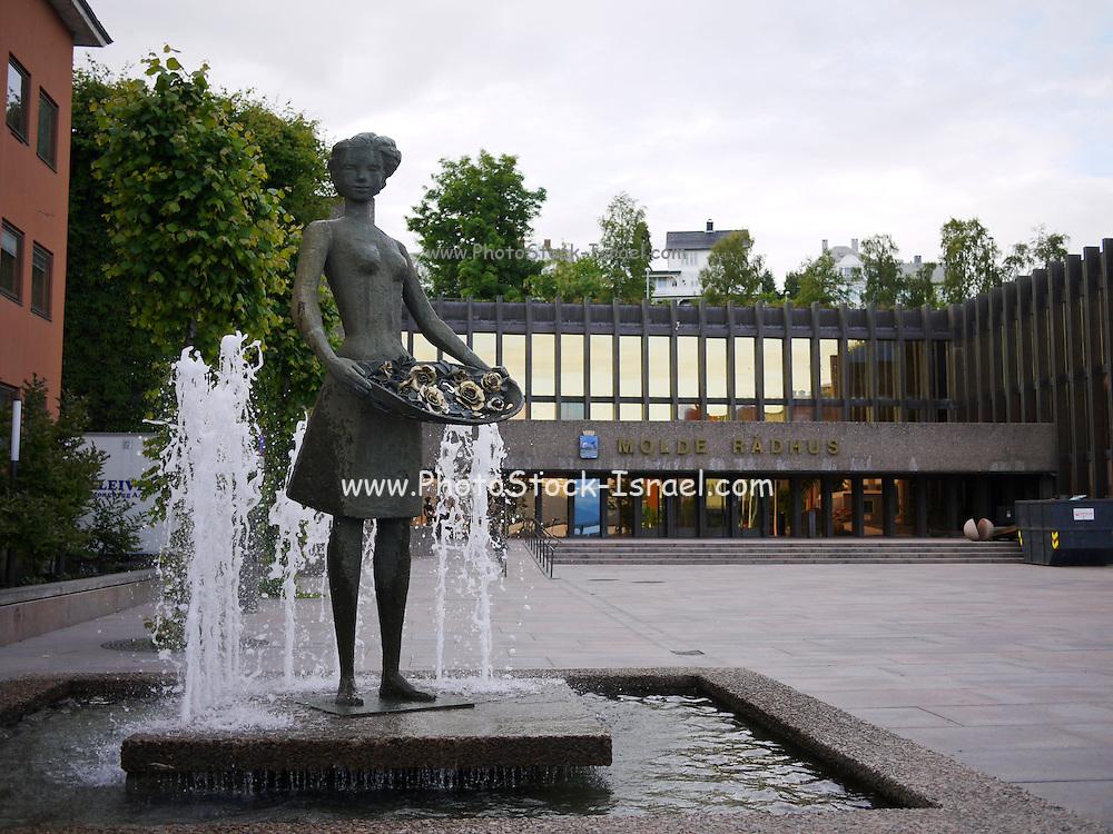 Molde, Møre og Romsdal county, Norway The Rose Maiden (Rosepiken) by Ragnhild Butenschøn