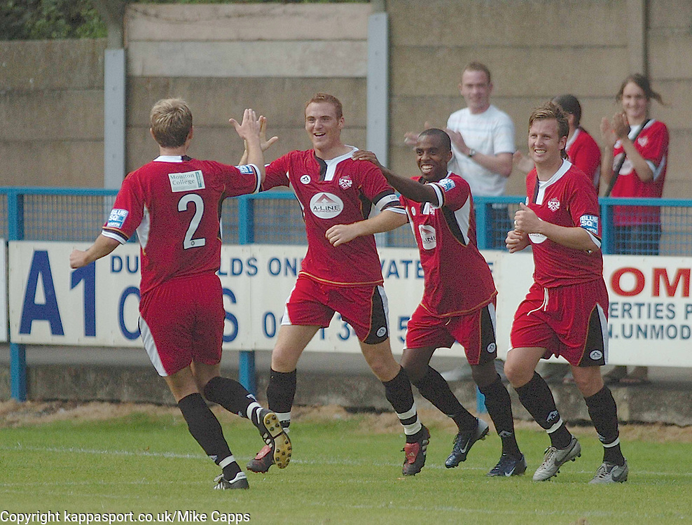 BRETT SOLKHON Kettering Town, celebrates his goal   at Stalybridge, Stalybridge Celtic - Kettering Town, Blue Square Conference North 11/8/2007