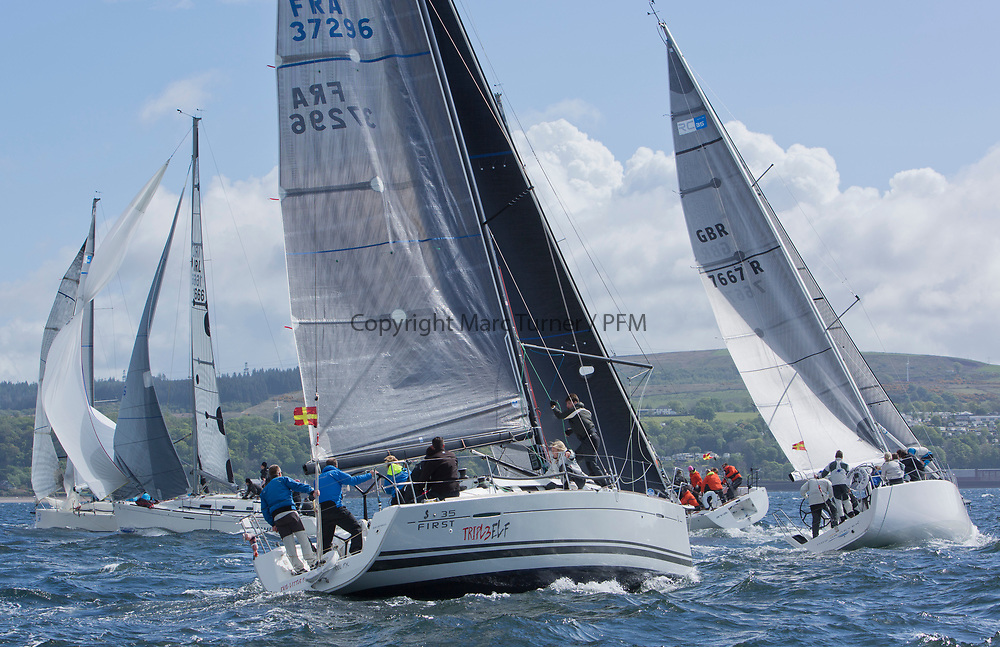 Pelle P Kip Regatta 2017 run by Royal Western Yacht Club at Kip Marina on the Clyde. <br /> <br /> TBA1, Triple Elf, Christine Murray, CCC/Fairlie YC, Beneteau First 35<br /> <br /> Image Credit Marc Turner