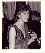 Harriet Maxwell at the Savoy Hotel 17th december 1984      ONE TIME USE ONLY - DO NOT ARCHIVE  © Copyright Photograph by Dafydd Jones 66 Stockwell Park Rd. London SW9 0DA Tel 020 7733 0108 www.dafjones.com