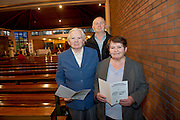 Maureen  and John Forde  with   Noinin Ruane Renmore  in St Oliver Plunkett's parish Renmore for the Diocese of Galaway /Trocaire Mass celebrating 40 years of Trocaire's work . Photo:Andrew Downes photography.